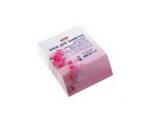 Блок бумажный для записей 90*110мм Hatber Розовая орхидея