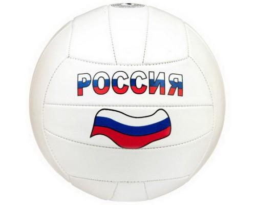 Мяч волейбольный 2 слоя,белый Россия Т15361