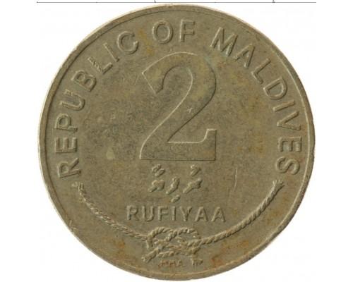 БЕЗ СКИДКИ Монета 2 руфии Мальдивы ТОП