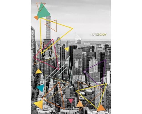 Книга для записей А4 200 листов В ритме большого города