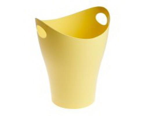 Корзина для бумаг 8 литров желтая Pastel