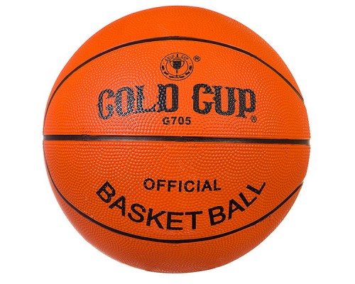 Мяч баскетбольный №5 резиновый Gold Cup G705