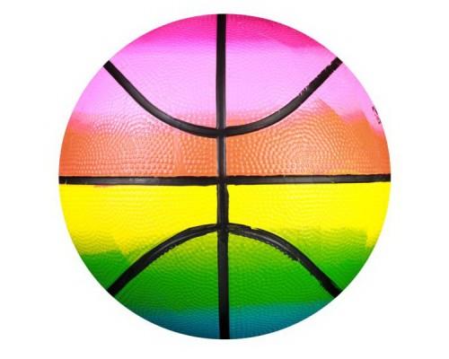 Мяч баскетбольный №3 резиновый радужный