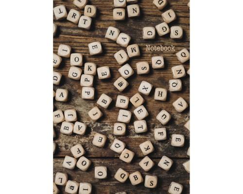 Книга для записей А4 100 листов Алфавит