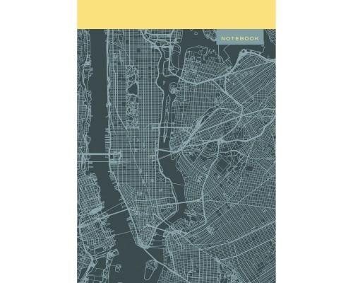 Книга для записей А4 100 листов Карта города