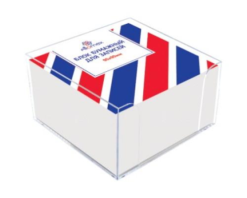 Блок бумажный для записей белый 9x9x5см Attomex, непроклеенный в подставке