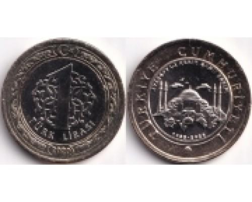 БЕЗ СКИДКИ Монета 1 лира Турция Мечеть София 2020