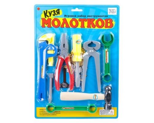 Набор инструментов Кузя Молотков, CRD 25x34х3,5 см,ZYK-009C-4.